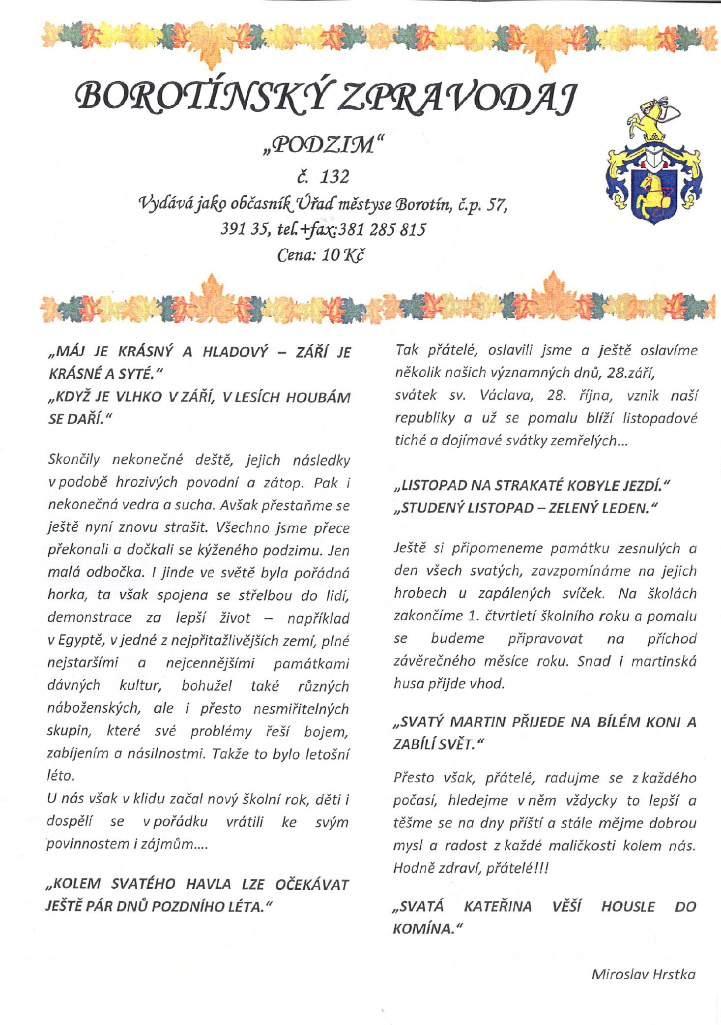 Borotínský Zpravodaj č. 132