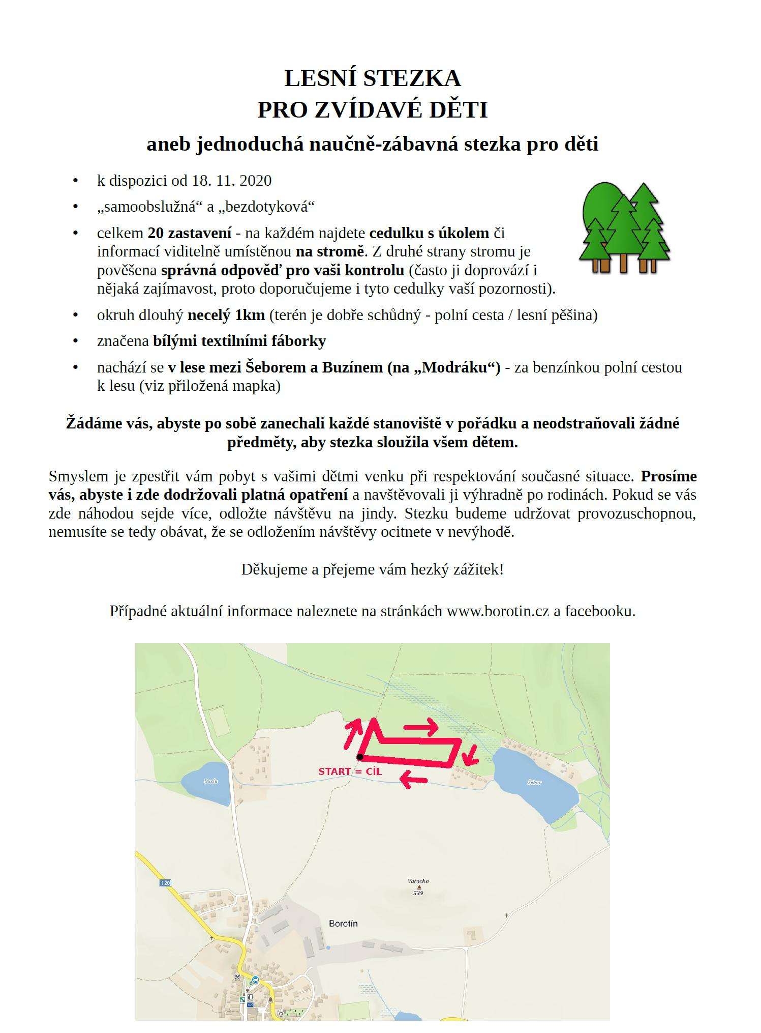 Lesní stezka pro zvídavé děti